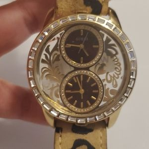 Ladies Guess Animal Leopard Print Watch (NWT)